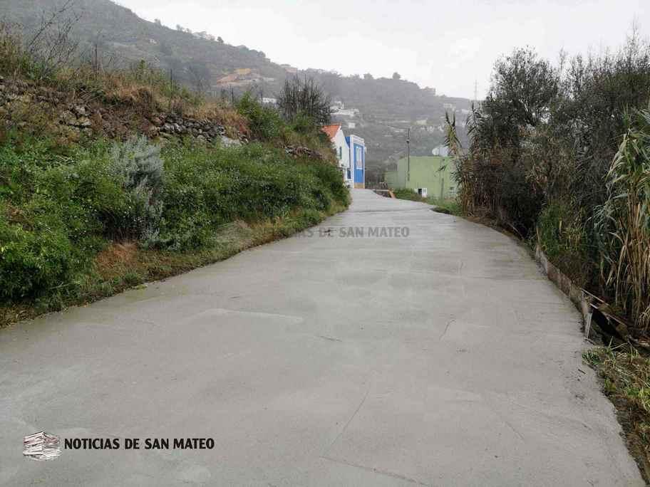 Hormigonado de la carretera de Las Haciendas Utiaca Febrero 2019 Noticias de San Mateo
