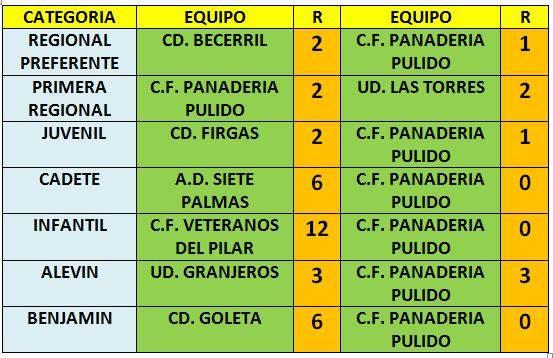 Partidos 22 al 24 enero 2016 pulido resultados