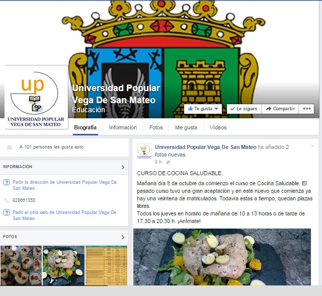 Universidad Popular SM facebook