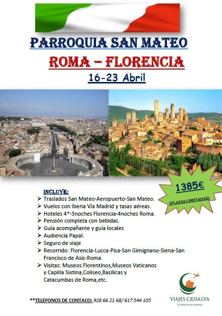 Viaje a Florencia y Roma con la Parroquia de San Mateo