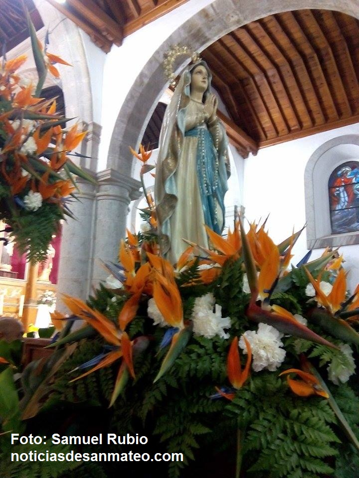 Virgen de Lourdes en San Mateo Febrero 2016 Noticias de San Mateo Foto Samuel Rubio