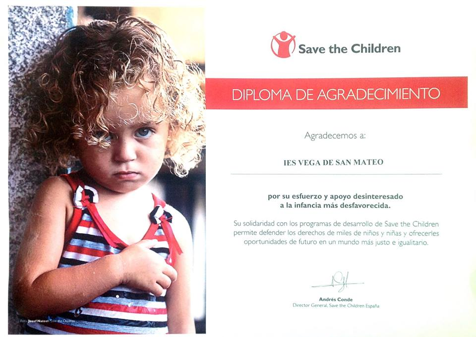 colaboracion ies vega de san mateo save the children
