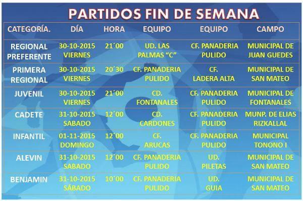 partidos jornada fin octubre 2015